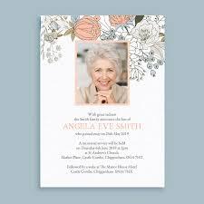 Memorial Announcement Cards Wild Flowers Funeral Memorial Announcement Cards From 1 00
