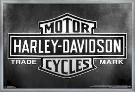 harley davidson vintage logo poster