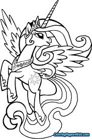 My Little Pony Characters Coloring Pages Feat My Little Pony