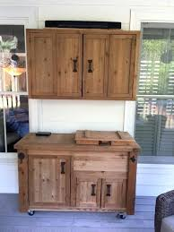 Outdoor Wall Cabinet Media And Rustic Wooden Cooler  Mounted Display S6