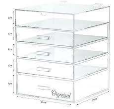 acrylic makeup storage drawer storage organiser 5 tier acrylic makeup storage organiser clear cosmetic organiser 4 acrylic makeup storage