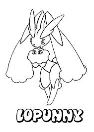Lopunny Pokemon Coloring Page More Pokemon