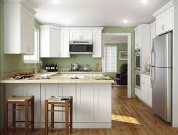 Painted White Kitchen Cabinets Kitchen Clark White Shaker Kitchen Cabinet With Island And