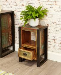 chic industrial furniture. Industrial Side Table With Drawer - Urban Chic Furniture