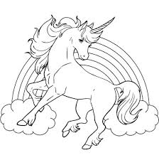 Plush Unicorn Rainbow Coloring Pages Horse With Page For Kids