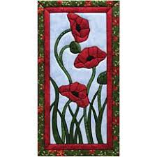 Quilting Kits - Quilt Wall Hanging Kits | HSN & Quilt Magic No Sew Wall Hanging Kit - Trio of Poppies Adamdwight.com