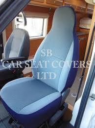 peugeot boxer motor home seat cover chevron blue