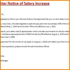 raise salary letter pay rise letter to employee arch times com