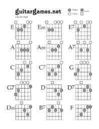 Chord Charts For Kids Guitar Games Free Fretboard Note And Chord Charts