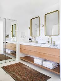 Cozy eclectic bathroom vanity designs ideas using wood Mirrors Emily Henderson Bathroom Trends 2019 Emily Henderson 10 Of The Most Exciting Bathroom Design Trends For 2019