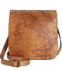 nwt patricia nash granada leather x purse bag map print rust s1433018 129