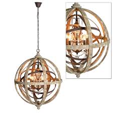 wonderful wooden orb light fixture large round wooden orb with metal orb chandelier view