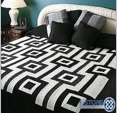 Black And White Quilt Patterns New Black And White Home And Furniture And Decorations Pinterest