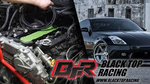 black top racing 350z project wire harness tucking