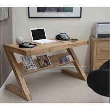 Zouk solid oak designer furniture laptop office PC computer desk