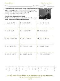 slope lesson worksheet slope worksheet and activity i model