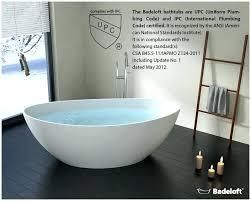 stand alone bathtubs bathtub luxury freestanding in bath tub plan 16