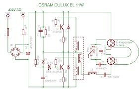 compact fluorescent lamp schema osram dulux el 11w