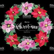 Blumenkranz In Rot Und Rosa Farbe Mit Weihnachtsstern