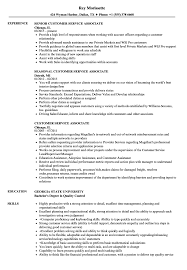 Customer Service Associate Resume Customer Service Associate Resume Samples Velvet Jobs 6