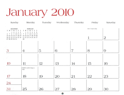 2010 Calendar January January 2010 Calendar Thegioithamdep Com