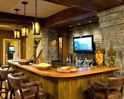 basement bar stone. Basement Remodeling Ideas Stone Wall Lighting Modern  Bar