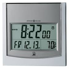 digital office wall clocks digital. Radio Controlled Modern Office Digital Wall Or Desk Clock | 625235 Howard Miller Clocks P