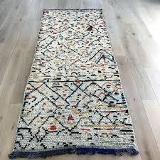 moroccan rug runner genuine vintage rug fancy moroccan trellis non slip runner rug rubber backed