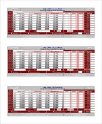 Time Card Calculator Free Sample Time Card Calculator 19 Documents In Pdf Excel