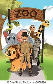 zookeeper clipart. Brilliant Clipart Zookeeper And Wild Animals  Csp8050224 Intended Clipart R