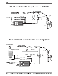 msd ignition wiring diagrams msd 6 series ford tfi harness timing control