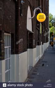 Stage door of the Old Vic is a theatre, Webber Street, London ...