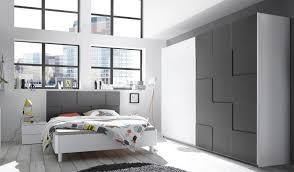 Schlafzimmerset Weiss Grau Matt 3d Optik Nicato5 Designermöbel