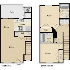 Floorplans U0026 Amenities Townhomes Explore OnCampus Housing Townhomes Floor Plans