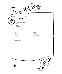 Sample Of Fax Cover Letters Fax Cover Letter Printable Template 9 Blank Fax Cover Sheet
