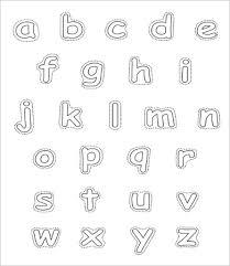 free printable alphabet. Simple Printable Free Printable Lowercase Alphabet Letters And B