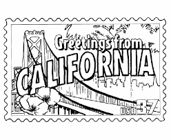 Small Picture USA Printables California State Stamp US States Coloring Pages
