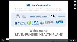 level funded group health plans webinar