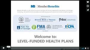 level funded group health plans webinar