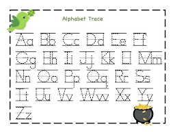 Printable Alphabet Tracing Worksheets For Kindergarten - Printable ...