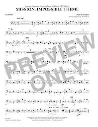 bassoon sheet music mission impossible theme bassoon sheet music at stantons sheet