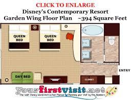 garden wing floor plan disney s contemporary resort from yourfirstvisit net