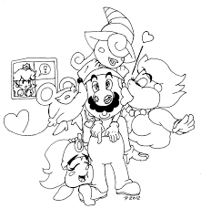 Kleurplaat Mario Superstar Saga Color Me Mario And Luigi Superstar