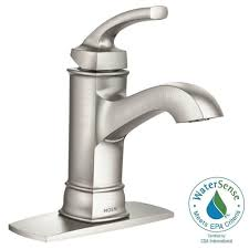 moen oil rubbed bronze moen boardwalk faucet bathroom faucets at home depot