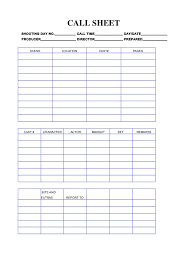 Phone Call Log Template Call Sheet Template