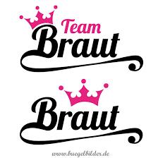 Junggesellinnenabschied Team Braut Mit Krone Oskars Bügelbilder