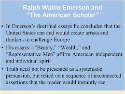 technology culture and everyday life chapter ppt ralph waldo emerson and the american scholar in emerson s doctrinal essays he concludes that the united