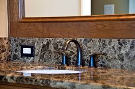 granite countertop with backsplash