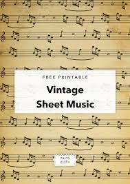 Free Printable Vintage Sheet Music Tortagialla
