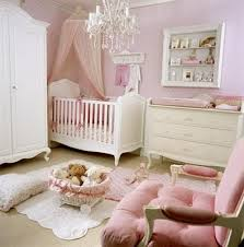 I Love White U0026 Pink Nurseries. The Chandelier Adds The Perfect Touch Of  Elegance.